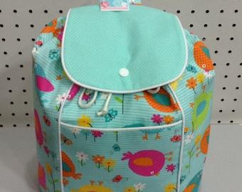 Toddler Girl Little Bird Backpack/Aqua/Magenta/Yellow/Orange/Pink/Lime/Turquoise