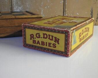 Vintage Cigar Box - Collectible Tobacciana Tobacco Stogie Smoke Shop Smoking Humidor Advertising Rustic Man Cave Antique Pipe Cigarette Case