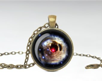 V838 Nebula Necklace, Galaxy Pendant, Nebula Jewelry [A76]