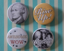Hamilton Button or Magnet Pack - 4 Pinback Buttons