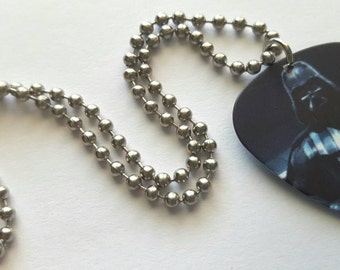 Darth Vader Guitar Pick Necklace with Stainless Steel Ball Chain - Star Wars