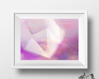 Pastel Crystal Quartz abstract photography wall art