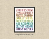 Harry Potter Titles Printable Wall Art