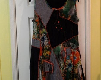 Bohemian Dress Style Sleeveless Dress Size Med Summertime Fashion