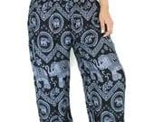 Unisex Harem pants Hippies pants /Elephant pants / one size fits black