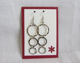 SALE! Hammered Circle Earrings