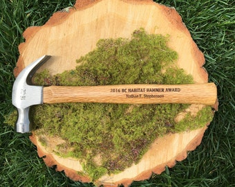 Personalized Engraved Hammer, Father's Day Hammer, Engraved Hammer Award, 16oz Wooden Hammer, Customized Hammer