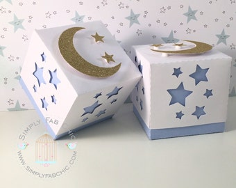 Twinkle Twinkle Little Star Favor Box | Baby Shower | 1st Birthday | Birthday Boy Girl (Qty 10)