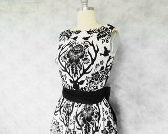 Nevermore Dress - Edgar Allen Poe Inspired, Evening, Formal, Party, Dress, Bird, Deer, Raven