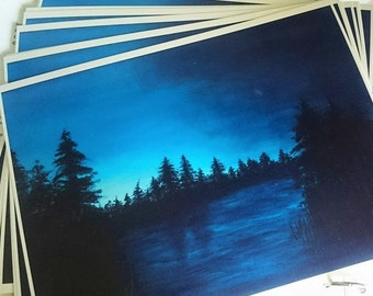 Night-time landscape prints 8.5x11in semi-gloss