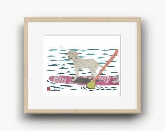 Yellow Lab Print, Lab Artwork, Labrador Wall Art, Labrador Gifts, Retriever Print, Yellow Lab Gifts