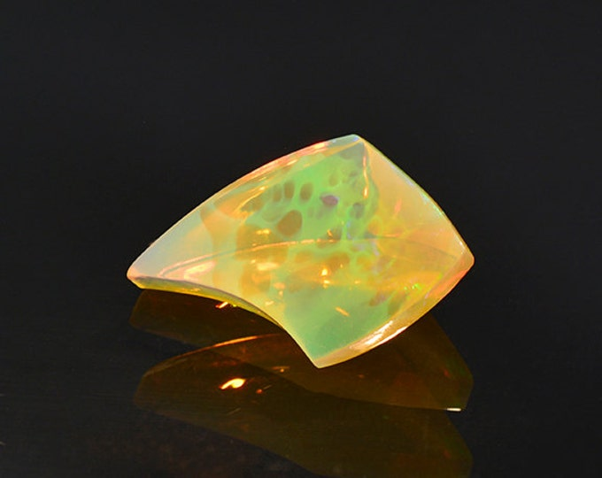 UPRISING SALE! Fantastic Multicolor Carved Opal Gemstone from Ethiopia 3.96 cts