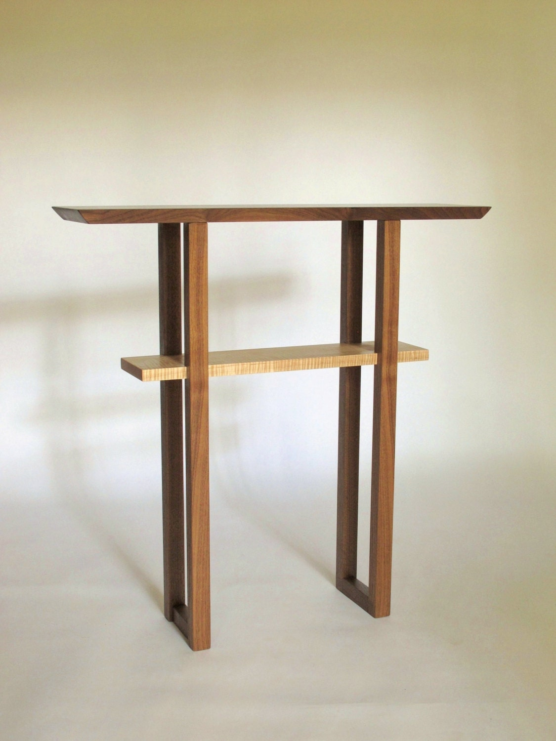Narrow Foyer Console : Narrow entry way console table solid wood custom for
