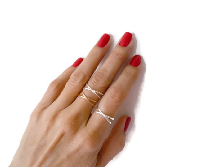 Sterling Silver Infinity Ring//Women Ring//Handmade Jewelry//Stackable Ring
