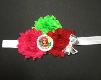 Strawberry Shortcake Tripple Shabby Headband