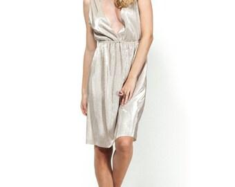 Gold maini dress / Open back dress / Evening dress / mini dress /gold dress
