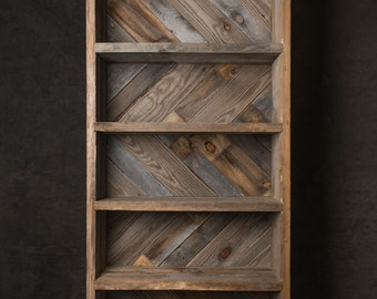 Hand made, reclaimed wood book shelf #RWBS