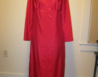 Vintage 1960s Pink Silk Sheath Dress