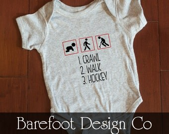 Walk Crawl Hockey Bodysuit Creeper FREE and FAST Shipping in the US!