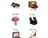 Custom 6 Favorite Things Poster Illustration - DIGITAL FILE