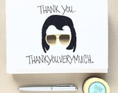 Funny Cards - Thank You Cards - Thank you Thank you very much - Funny Thank You Cards - Set of Thank you cards - Greeting Card Set