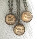 Three Best Friends Necklace Set