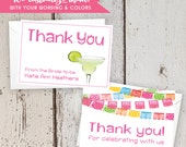 Nacho Average Fiesta Thank You Cards - FREE CUSTOM COLORS - Personalized Printed Folded Party Notecards with Envelopes - Margarita Pink