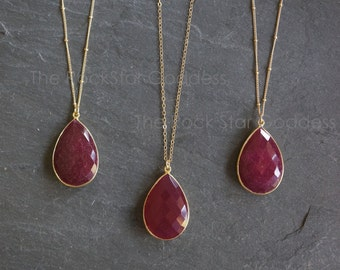 Ruby // Ruby Necklace // Red Ruby // Ruby Jewelry // July Birthstone // Ruby Pendant
