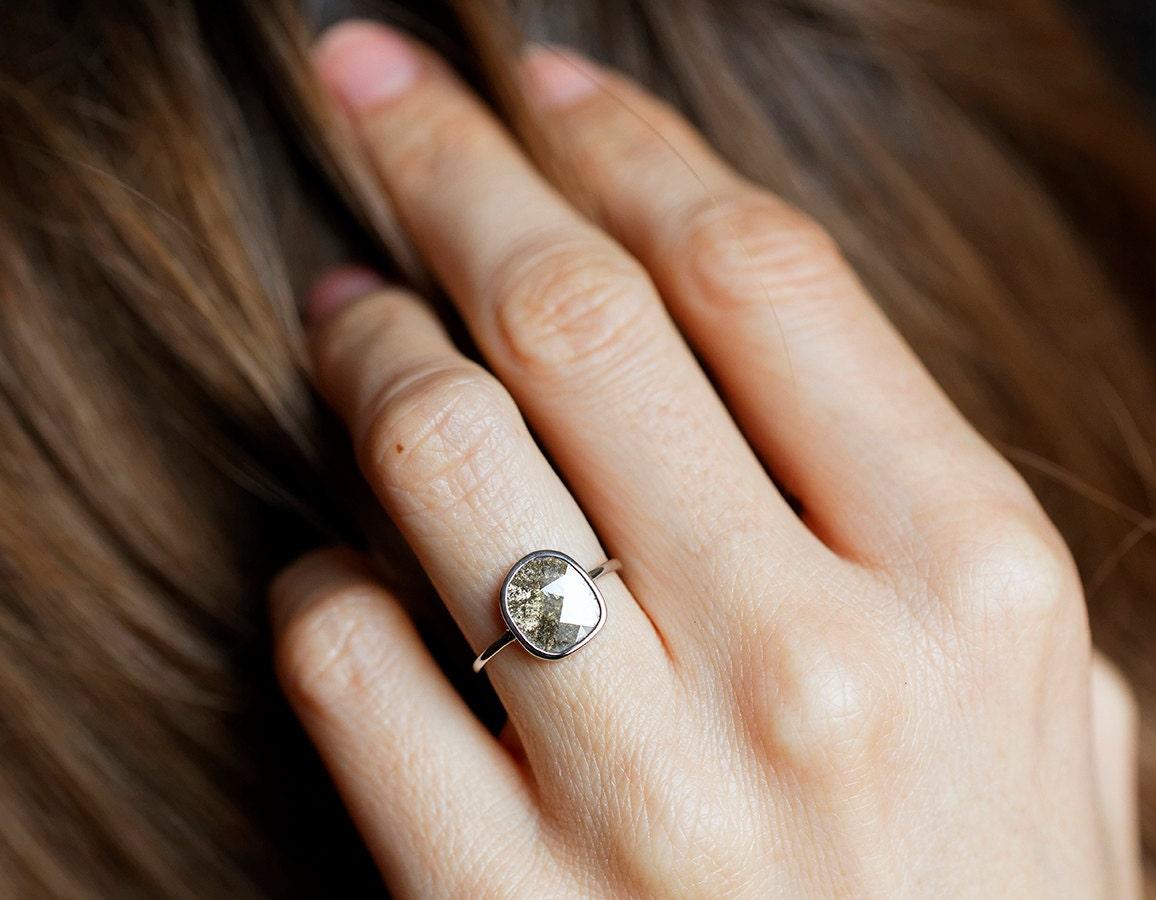 Diamond Slice Ring Grey Diamond Ring Gray Diamond Ring. Supernatural Rings. Deer Antler Rings. Car Themed Men's Engagement Rings. Green Purple Wedding Wedding Rings. Black Red Wedding Wedding Rings. 2.50 Carat Engagement Rings. Gent Wedding Rings. Bridesmaid Wedding Rings