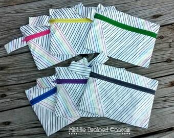 SALE: Tyvek Rainbow Zip Bag