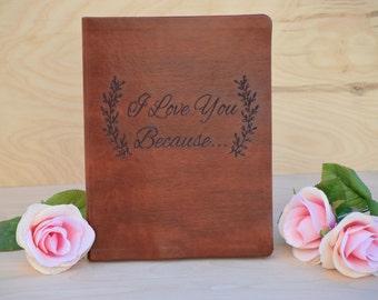Wedding Guest Book - Wedding Guest Book Alternative - Personalized Guest Book - Leaf Guest Book - Leather Guest Book - Guest Book Ideas