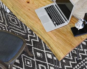 Retro Natural Wood Desk