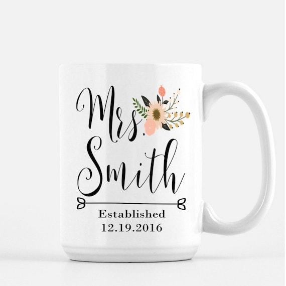 Wedding Gift Coffee Mugs : Future Mrs. Coffee Mug, Bridal Gift, Wedding Gift, Bride Coffee Mugs ...