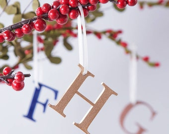 Letter Christmas Decoration - Christmas Tree - Monogram Bauble - Gift for Couples - Christmas Keepsake - Personalised Tree Bauble
