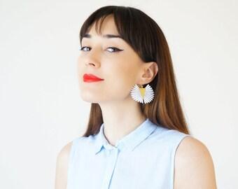 Summer Outdoors Statement Earrings Lace Earrings Boho Earrings Spring Trends Mom Gift Girlfriend Gift for Her Women Accessory Gift/ LENTINA