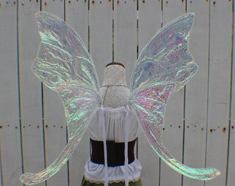 Custom X Large White Iridescent Luna Moth Fairy Inspired Wings