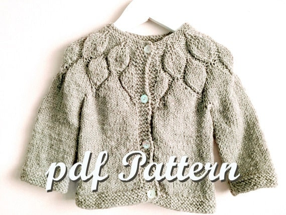 Toddler Girl knitting Pattern Girl Sweater knitted Pattern
