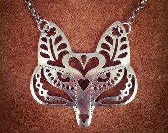 Foxy // Fox Necklace // Southwest Necklace // Native American Necklace // Tribal Necklace // Boho Necklace // Boho Chic // Silver Necklace