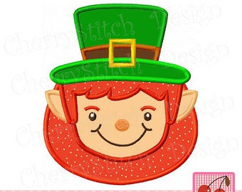St Patrick's Day Leprechaun  Machine Embroidery Applique Design - 4x4 5x5 6x6""