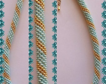 25 Beaded crochet necklace - necklace - Pearl - crochet chain