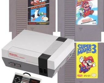 Original NES Console with Super Mario 1, 2 & 3 Free Shipping