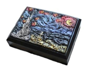 Dark Starry Night Soap Bar in Metallic Colors