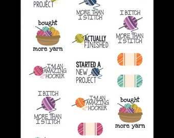 Crochet Stickers    Stickers for Life Planner