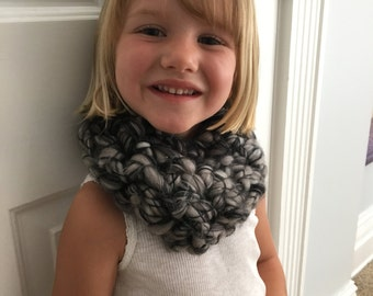 Toddler wool blend infinity scarf