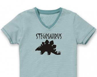 Velour Iron On Applique DINOSAUR STEGOSAURUS