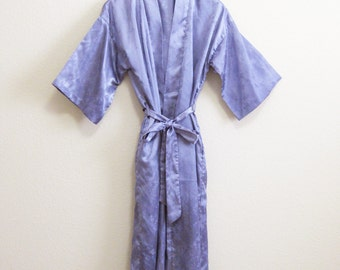Purple Asian Robe - Small Medium - California Dynasty Lavender Satin