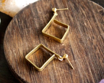 Open Geosquare Earrings