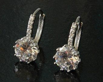 Bridal Earrings Crystal, Bridal Crystal Earrings, Bridal Earrings, Swarovski Crystal Bridal Earrings, Crystal Earrings, Wedding Jewelry