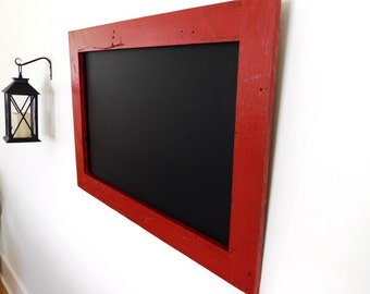 Framed Chalkboard / Chalk board made from Reclaimed Wood Shown in Vintage Red 24 x 36 *MORE COLORS AVAILABLE*