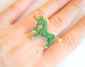 Fairy Kei Unicorn Ring - Cute Jewelry - Kawaii Rings for Girls and Teens by FrostedSoSweet, Magical Fantasy Ring